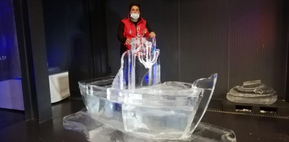 Buz'u sanata dönüştürdüler: Atabuz Müzesi 2021 yılının ilk ayında iki farklı sergiye ev sahipliği yapıyor - 5