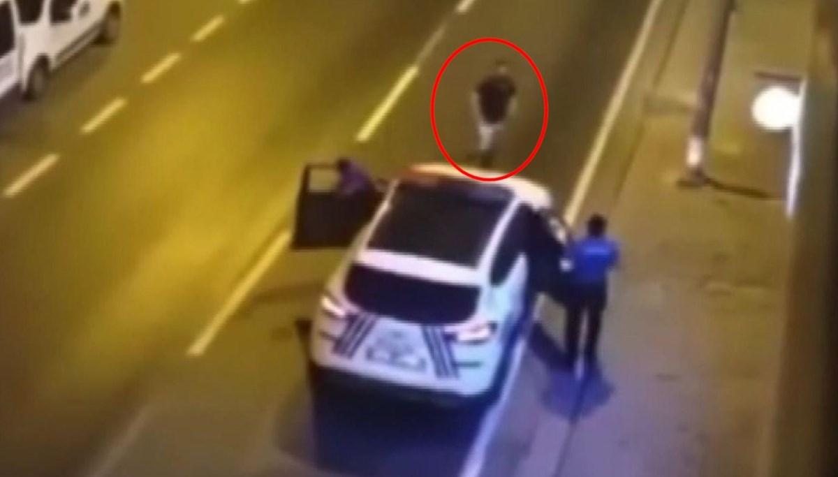 Bıçaklı saldırgan ayağından vurularak etkisiz hale getirildi