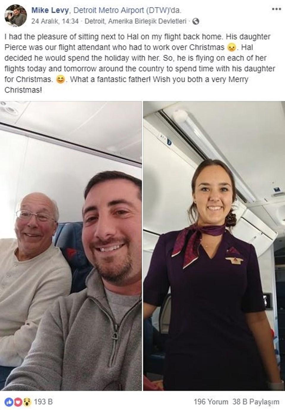 Mike Levy'ninuçuşta baba ve kızıyla tanışması