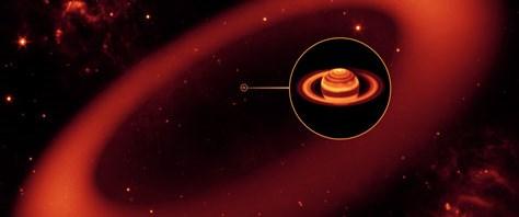 1 milyar Dünya büyüklüğünde Satürn halkası