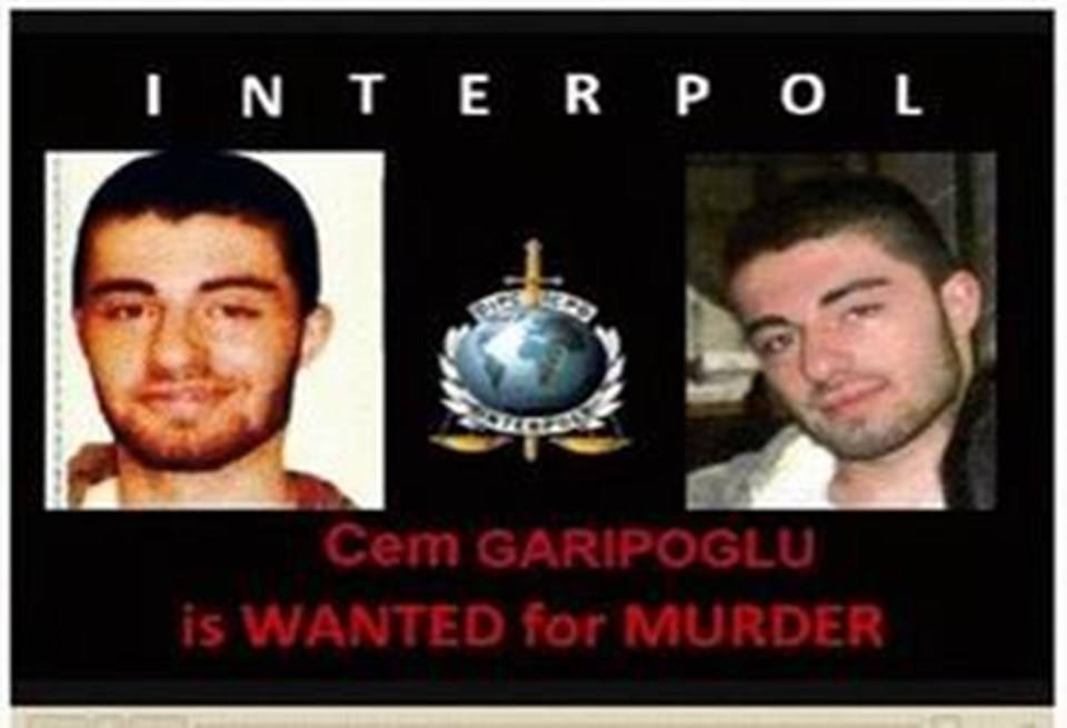 Garipoğlu İnterpol tarafından kırmızı bültenle aranıyordu.
