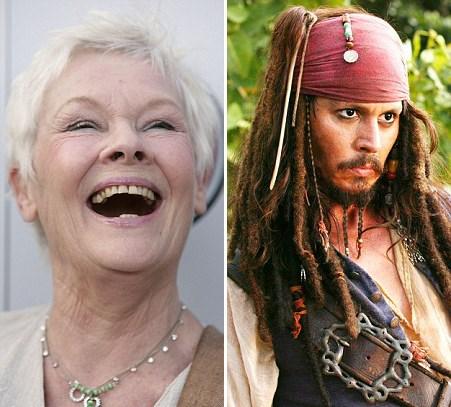 Karayip Korsanları serisinin dördüncü filminde Judi Dench Kaptan Jack Sparrow'u oynayan Johnny Depp ile çok samimi oldu