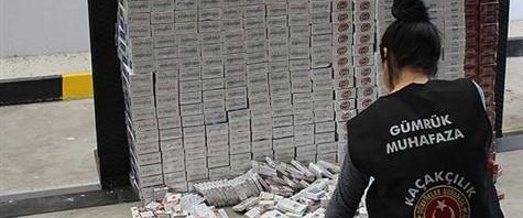 15 bin paket kaçak sigara ele geçirildi