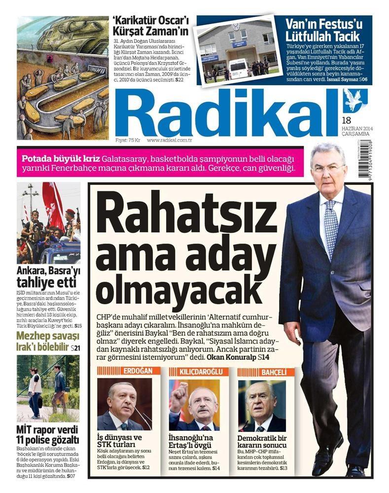 18 Haziran Gazete manşetleri