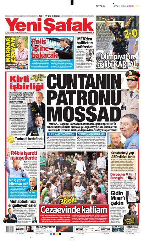 19 Ağustos gazete manşetleri