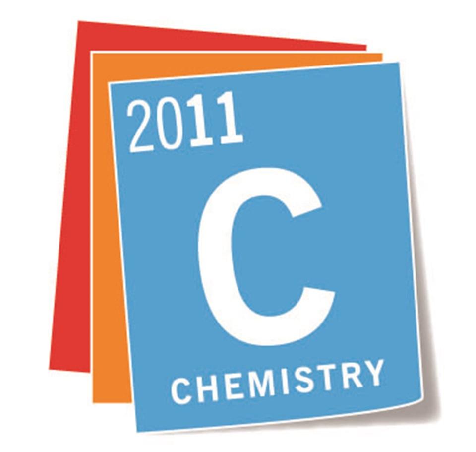 2011 Uluslararası Kimya Yılı'nın resmi logosu.