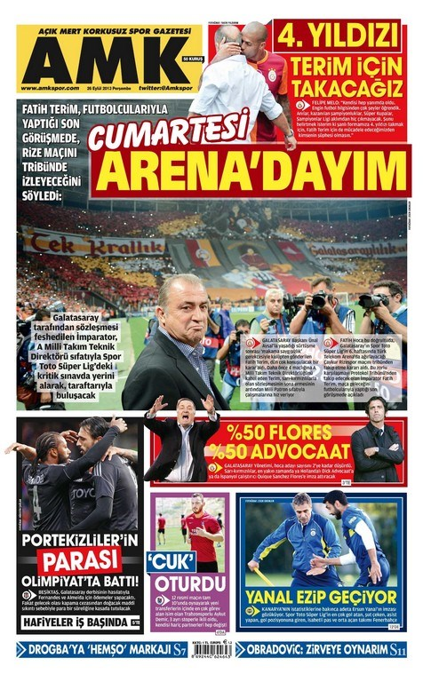 26 Eylül 2013 gazete manşetleri