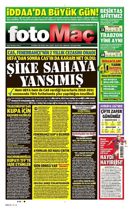29 Ağustos manşetler