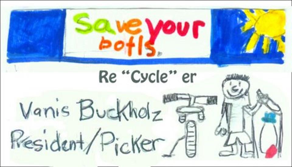 Vanis Buckholz'un yedi yaşındayken başlattığı çalışmanın el ilanları...