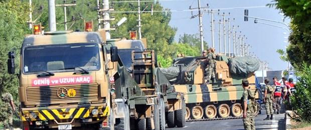 Akçakale'ye askeri sevkıyat