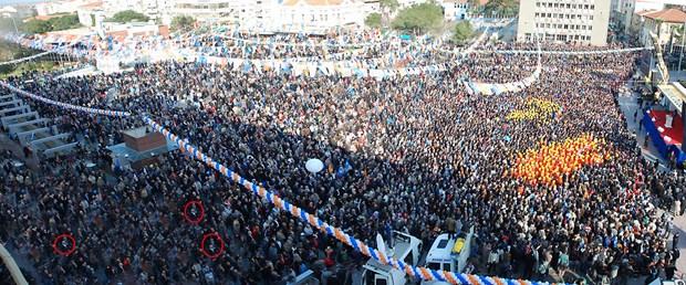 AKP mitingine photoshop ayarı