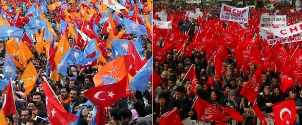 AKP ve CHP'den aynı yerde, aynı gün miting