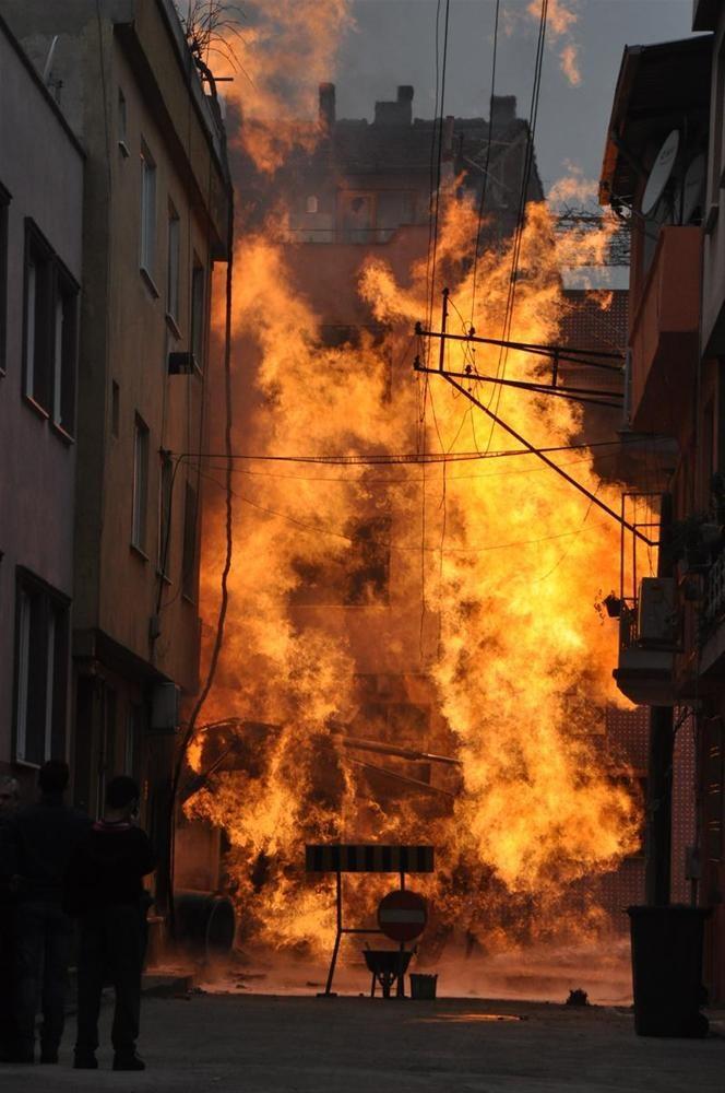 Alevler apartmanı aştı