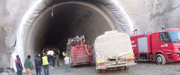Ankara-İstanbul YHT tünel inşaatında yangın