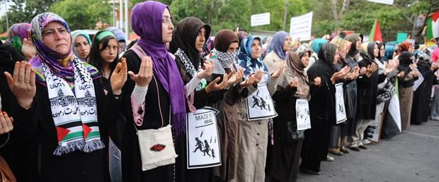Ankara'da İsrail'i protesto mitingi