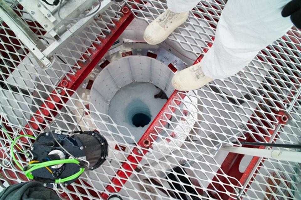 800 metrelik tünele açılan sondaj deliği.
