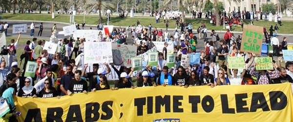 Arap gençliği 'iklim' için harekete geçti