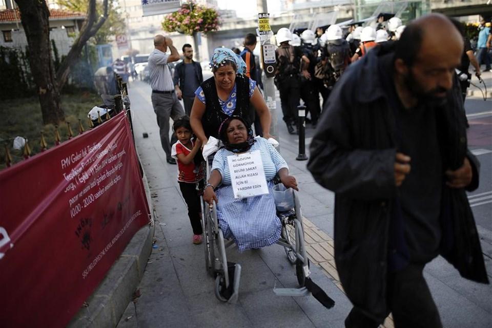 Asansör kazasına protesto