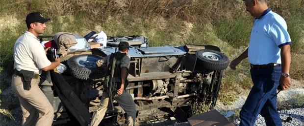 Askeri araç takla attı: 7 yaralı
