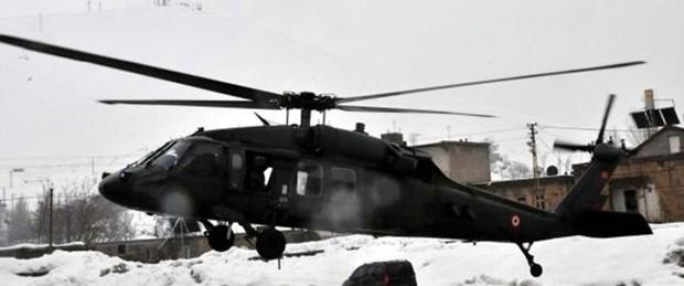 Askeri helikopterden zorunlu iniş