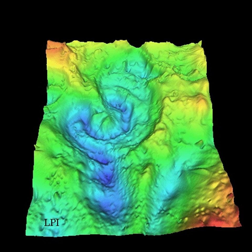 Chicxulub, bugün üzeri örtülmüş bir krater.