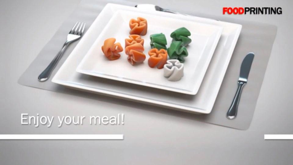 Geleceğin yemeğine ait tasarımlardan bir tanesi.