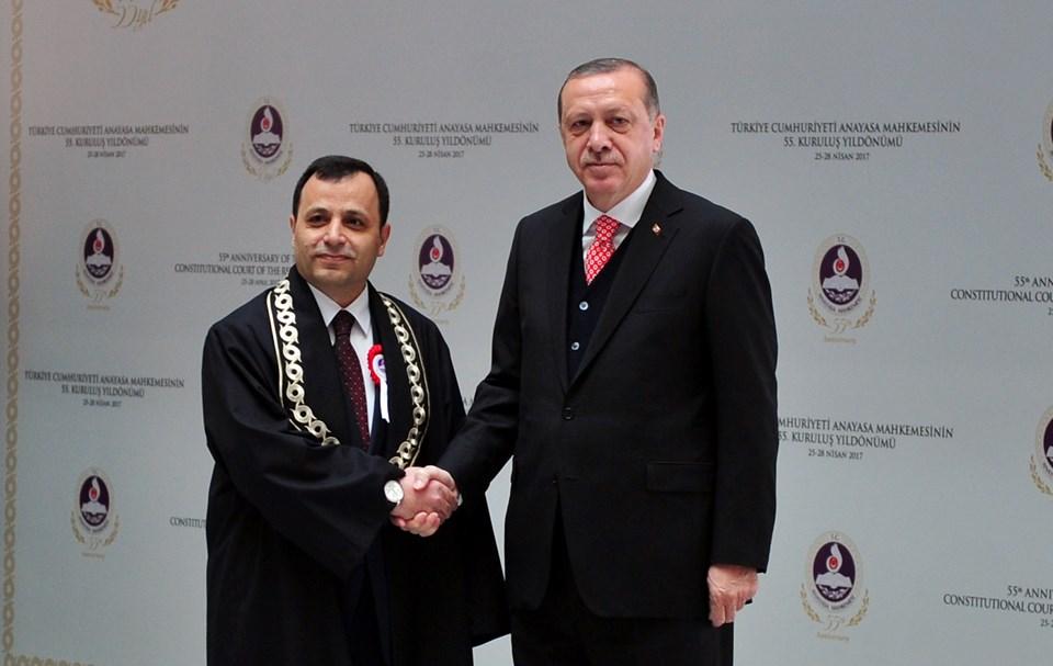 AYM Başkanı Arslan ve Cumhurbaşkanı Erdoğan