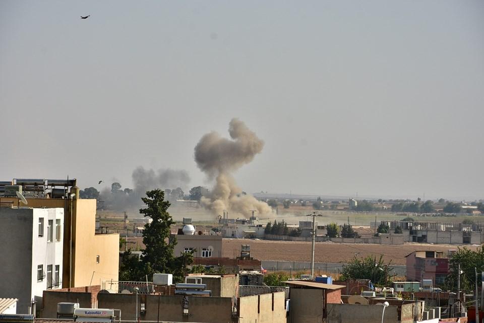 Resulayn'daki terör hedefleri obüs atışlarıyla vuruluyor
