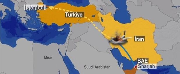 Jetin, Birleşik Arap Emirlikleri'nin Sharjah kentinden kalktığı belirtiliyor.