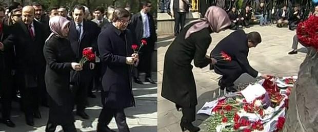 davutoğlu ankara saldırı çiçek.jpg