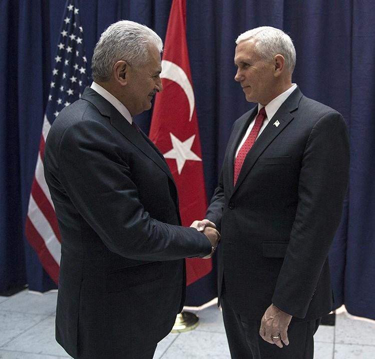 Yıldırım, ABD Başkan Yardımcısı Mike Pence ile görüştü
