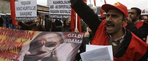 Beyoğlu'nda Obama'ya protesto