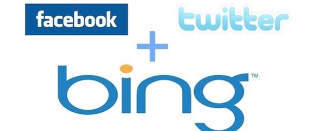 Bing sosyal medyayı arayacak