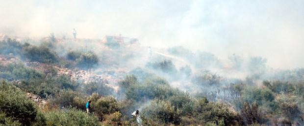 Bodrum'da orman yangını söndürüldü