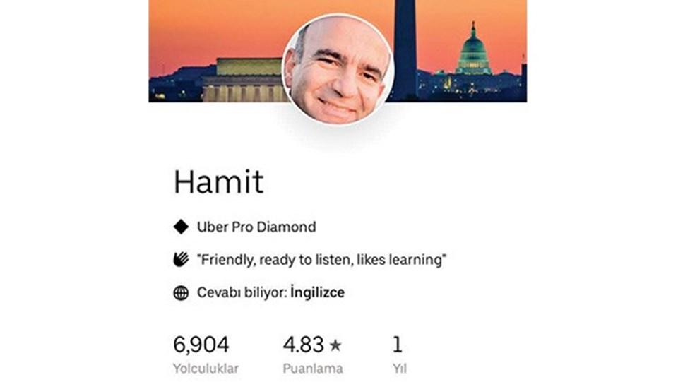 Abdülhamit Bilici'nin Uber profili