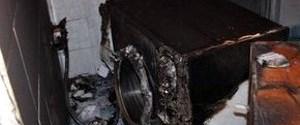Çamaşır makinesi patladı, yangın çıkardı