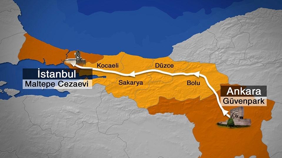 Kılıçdaroğlu ve partililer, Ankara'dan İstanbul'a günde 18-20 kilometre yürüyecek.
