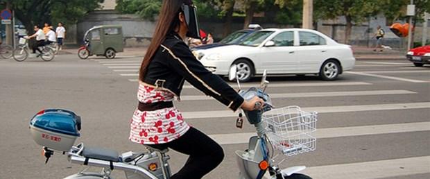 Çin'de elektrikli bisiklet patlaması