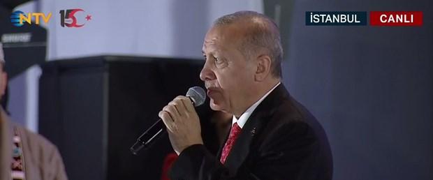 Cumhurbaşkanı Erdoğan, Atatürk Havalimanı'nda konuşuyor