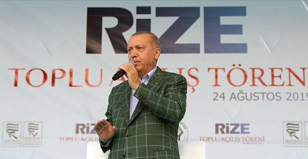 Cumhurbaşkanı Erdoğan: Rize-Artvin Havalimanı 1,5 yıl içinde hizmete alınacak
