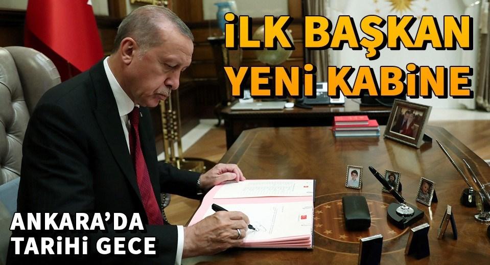 Cumhurbaşkanı Erdoğan, Yeni Hükümet Sistemi'nin ilk kabinesini onayladı.