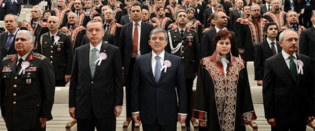 Danıştay'da gerginlik, Erdoğan salonu terk etti