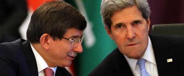 Davutoğlu ile Kerry Suriye'yi görüştü