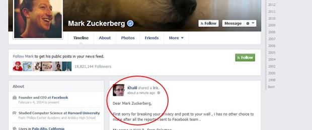 Derdini anlatmak için Zuckerberg'i hack'ledi