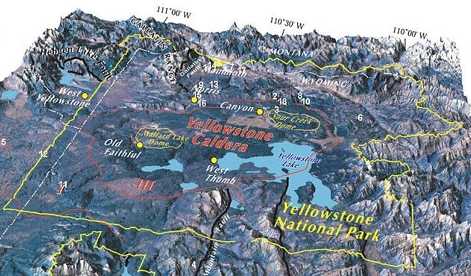 Wyoming'tekiYellowstone kalderası