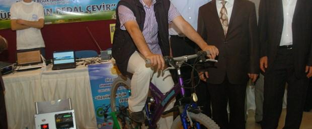 Diyarbakır'da bisikletten elektrik