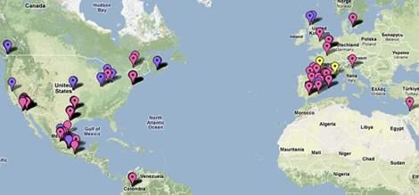 Google Maps üzerindek domuz gribi haritalarından bir görüntü. Haritaya ulaşmak için resmin üzerine tıklayın. (Yeni bir sayfa açar)