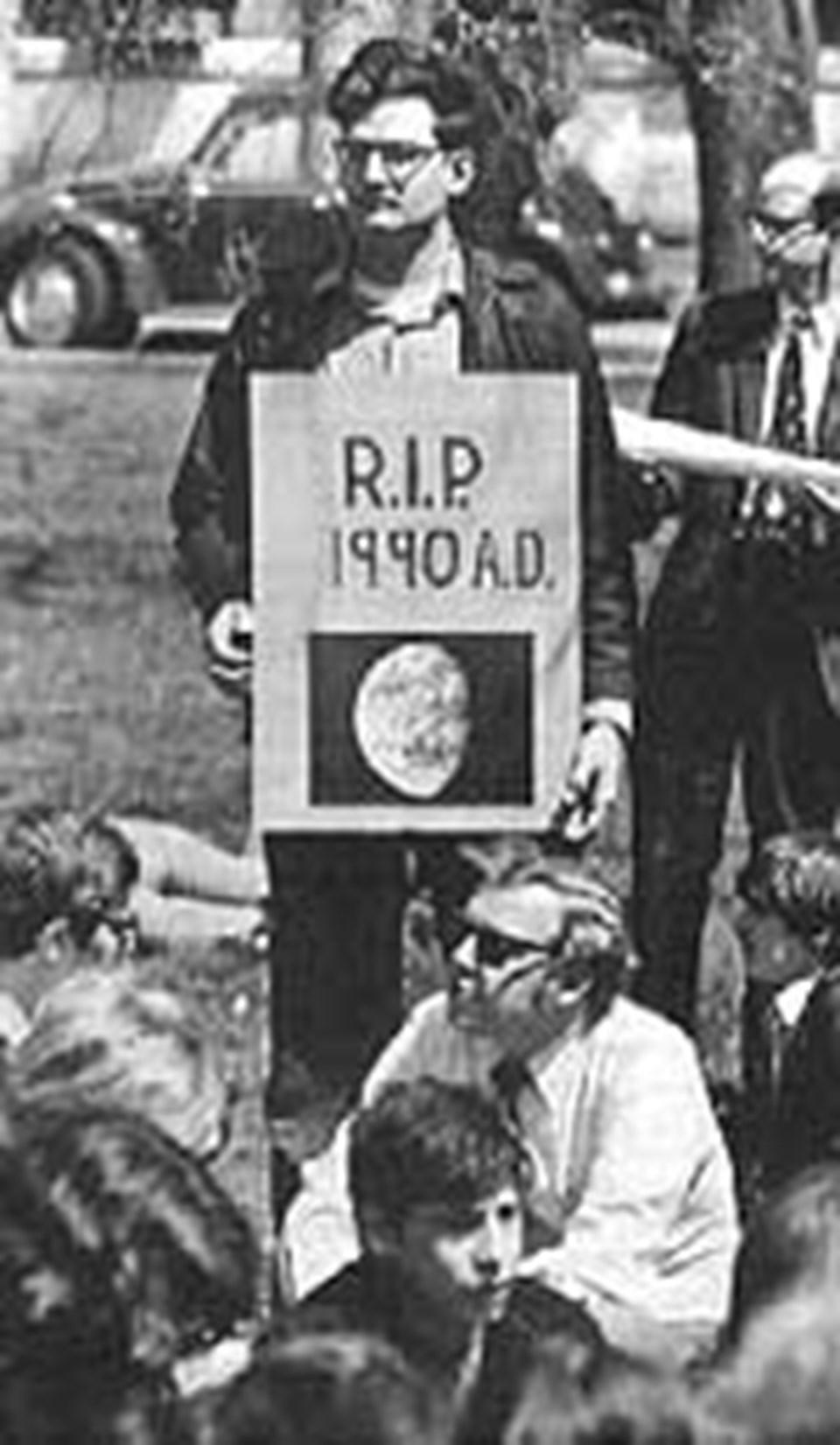 1970'deki Dünya Günü'nden bir kare
