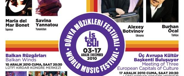 Dünya müzikleri İstanbul'a geliyor