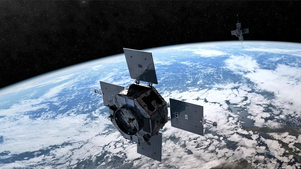 Radiation Belt Storm Probes uydularından birine ait çizim.